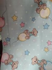 Vintage 1991 Precious Moments Fabric Material Balloons Stars Nursery Craft Sew