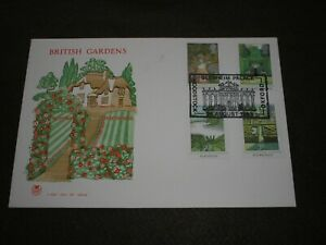 1983 GB Stamps BRITISH GARDENS First Day Cover BLENHEIM PALACE WOODSTOCK Cancel