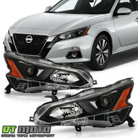 For 2019-2020 Altima Halogen Black Projector Headlights Headlamps Set Left+Right