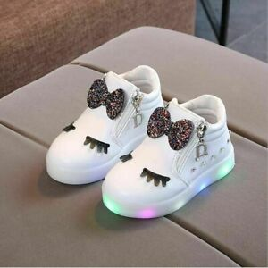 Baby Shoes Infant Toddler Sneakers With LED Light Anti-slip Girls Outdoor Shoes