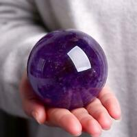 Natural Amethyst Quartz Stone Sphere Crystal Fluorite Ball Healing Gemstone 2020
