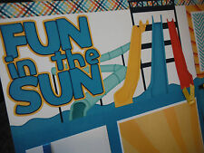 2 Premade Fun in the Sun! Waterslides 12x12 Scrapbook Pages for your family