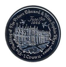 GIBRALTAR - 1 Crown 1999 - Hochzeit Prinz EDWARD und SOPHIE (11186/425N)