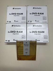 DVD-RAM Cartridge, Empty with sleeve (Verbatim brand) 20 pack