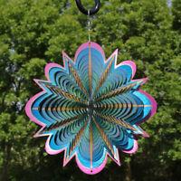"""Sunnydaze Hanging Blue Dream 3D Whirligig Outdoor Wind Spinner with Hook - 12"""""""