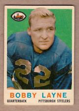 1959 Topps #40 Bobby Layne Pittsburgh Steelers EX-NM condition