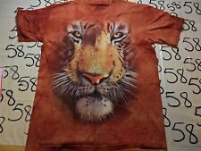 Large- The Mountain Lion Tiger King Of Jungle Face T- Shirt
