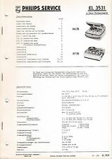 Manuel d'instructions service pour PHILIPS EL 3531, RK 35, RT 35