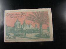 poster stamp cinderella vignette reklamemarken nice 1897 exposition hotel