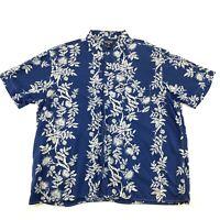 POLO JEANS CO Ralph Lauren Mens Size XL Blue Hawaiian Shirt