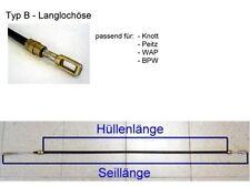HGW Bremsseil Typ B - HL: 1100 mm - für Peitz, Knott, Alko, BPW, Schlegl etc.