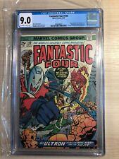 FANTASTIC FOUR #150 vs ULTRON Avengers Inhumans 1974 CRYSTAL QUICKSILVER CGC 9.0