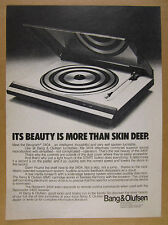 1981 Bang & Olufsen BEOGRAM 3404 Turntable photo vintage print Ad