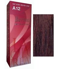BERINA PERMANENT A12 COLOR HAIR DYE RED VIOLET BLONDE COLOR Professional Use