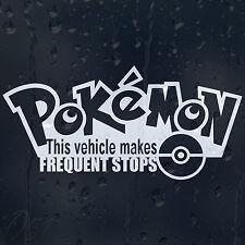 Drôle de ce véhicule rend des arrêts fréquents pour pokemon voiture autocollant vinyle autocollant