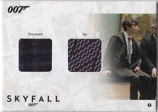 JAMES BOND AUTOGRAPHS & RELICS SDC3 BEN WHISHAW AS Q TROUSERS TIE DUAL 032/200