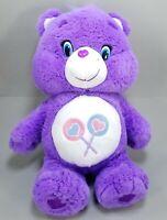 "2017 Just Play Care Bears & Cousins SHARE BEAR 12"" Stuffed Plush Lollipop Purple"