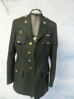 US Military Army Green Coat Dress Coat Jacket Uniform Mens Size 38 L