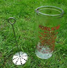 Vintage, Horlicks Glass Mixer, Large 1 Pint Size With Frother, Great Condition