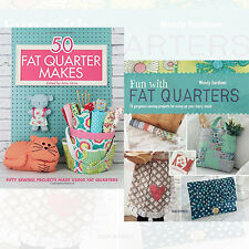 Fat Quarter Sewing Collection 2 Books Set 50 Fat Quarter Makes,Paperback , New