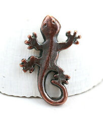 1pc Antique Copper Lizard pendant Gecko metal charm, Greek metal casting F527