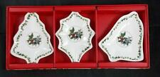 Portmeirion HOLLY & IVY 3 Piece Set Christmas Dishes MINT CONDITION