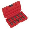 Multi-Spline Screw Extractor Set 10pc | SEALEY AK8181 by Sealey | New