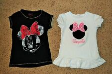 """Lot of 2 Girls size 5-6 Minnie Mouse Monogram """"Sophie"""" shirt. EUC! worn once!"""