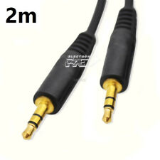 Cable MINI JACK Doble Macho ORO 2 Metros Audio 3,5mm Estéreo v199
