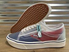 Vans ComfyCush Slip On-Old Skool Skate Shoes Clear Red Blue SZ 9 ( VN0A4P3EWYF )