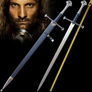 """L 51"""" Lord of the Rings Anduril The Sword of Aragon holy sword Steel blade #0002"""