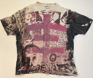 Vintage Mosquitohead Psychic TV USA 80s Band Single Stitch T Shirt Acid Wash XL