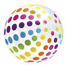 "Intex Jumbo Inflatable 42"" Giant Beach Ball Crystal Clear w/ Translucent Dots"