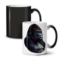 Monkey Headphones NEW Colour Changing Tea Coffee Mug 11 oz | Wellcoda