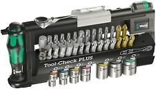 "Wera Tool Check Mini Ratchet Screwdriver Wrenches Socket Bit 1/4"" Metric 39 Pc"