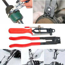2pcs Auto Cv Joint Boot Clamps Pliers With Cutter Ear Type Banding Tool Set