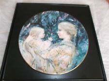 Royal Doulton 1975 Collector's Plate #3 Edna Hibel Kristina And Child, Ltd Ed