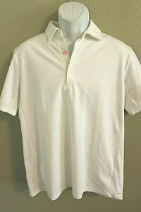 NEW MENS RAPHA ESSENTIAL POLO SHIRT - WHITE - LARGE