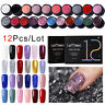 LEMOOC 5ml 12 Stück Nagel Gellack Soak Off UV Gel Nagellack Nail Art Gel Polish