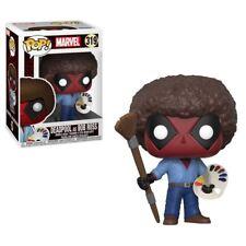 Marvel Deadpool como Bob Ross 9.5cm Pop Vinyl Figura Funko 319 Vendedor Gb No