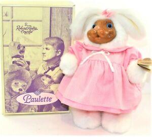 "A Robert Raikes Original Paulette 14"" Plush Bunny Rabbit 1992 Hang Tag & Box"