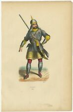 Antique Print of a Circassian by Wahlen (1843)
