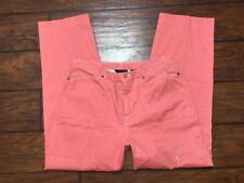 Crazy Horse Liz Claiborne pink denim jeans size 12 cargo pocket straight leg