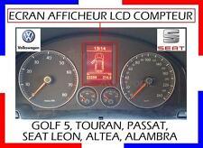 ECRAN LCD COMPTEUR ODB GOLF 5, TOURAN, SHARAN, ALAMBRA, PASSAT//ALTEA SEAT LEON