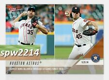 2018 Topps Now Houston Astros #243 Fewest Runs Allowed 50 Games Verlander, Cole