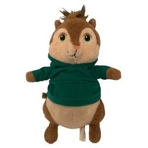 "Build A Bear Alvin & the Chipmunks Theodore Green 10"" Plush Animal Hoodie 2009"