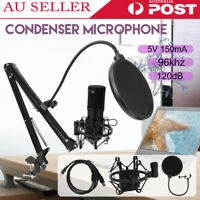 BM800 Condenser Microphone Kit Studio Suspension Boom Scissor Arm Stand Sound fa