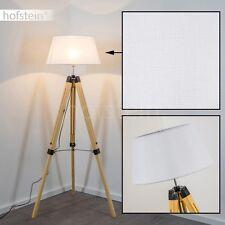 Design Boden Leuchten Stand Lampen Stehleuchte Wohn Zimmer Lese Licht Stoff weiß