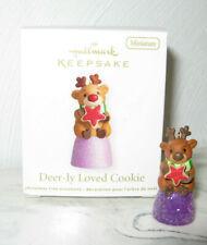 2012 Hallmark Deer-ly Loved Cookie Reindeer on Gumdrop Miniature Ornament