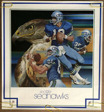 Original Vintage Poster Nfl Football Memorabilia Sports Pin Up Seattle Seahawks